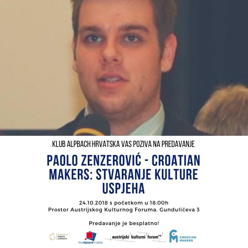 PAOLO ZENZEROVIĆ – CROATIAN MAKERS: STVARANJE KULTURE USPJEHA