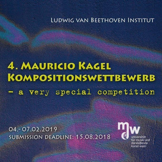 4. Mauricio Kagel Kompositionswettbewerb